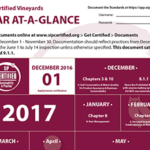 SIP Certified Vineyards Year At-A-Glance